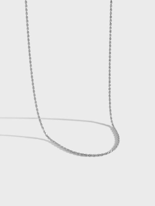 DAKA 925 Sterling Silver Round Minimalist Necklace