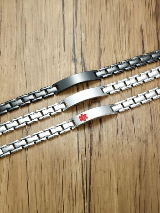 CONG Stainless steel Geometric Hip Hop Bracelet 2
