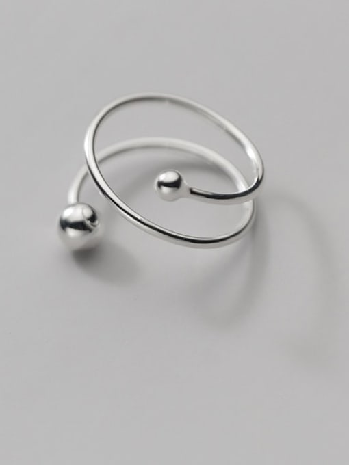 Rosh 925 Sterling Silver Geometric Minimalist Stackable Ring 0