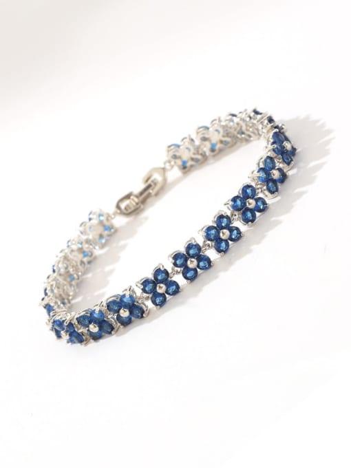 DUDU Brass Cubic Zirconia Clover Dainty Bracelet 3