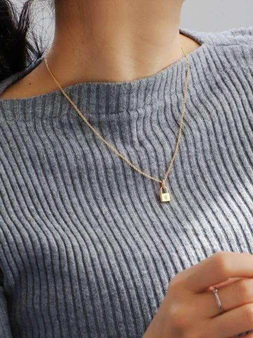 CHARME Brass Rhinestone Locket Minimalist Necklace 2