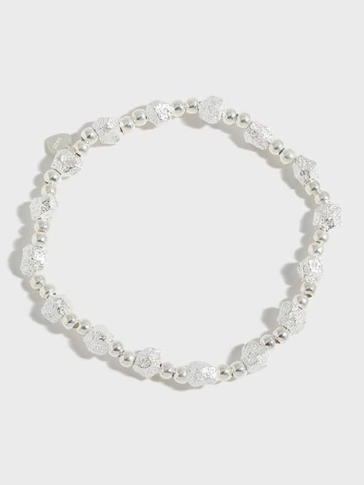 DAKA 925 Sterling Silver Geometric Vintage Beaded Bracelet