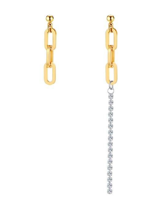 CONG Titanium Steel Geometric Minimalist Drop Earring 0