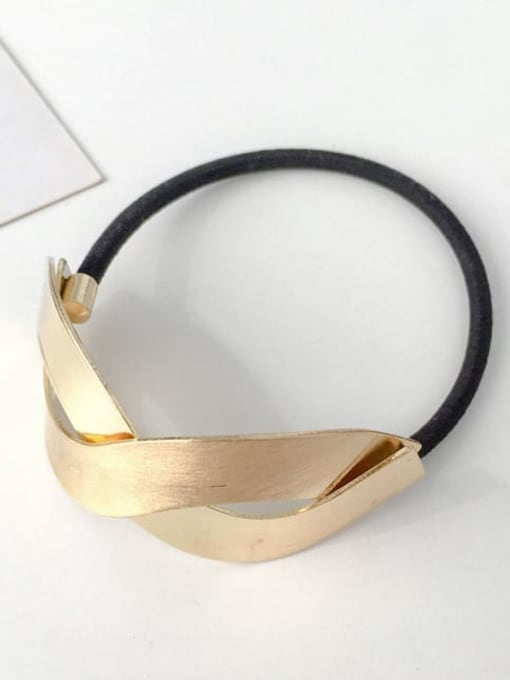 6 golden wave Rubber band Minimalist Geometric Alloy Hair Rope