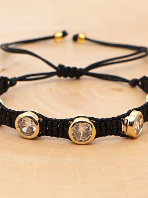 MI B190544D Multi Color Geometric Miyuki DB Bead Bohemia Handmade Weave Bracelet