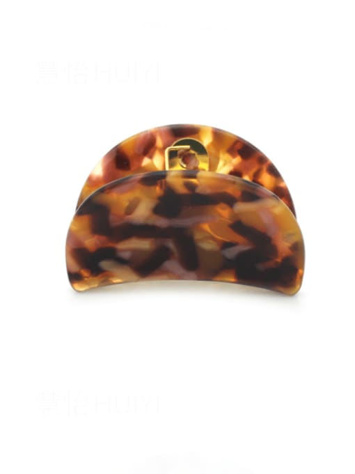 Red brown Cellulose Acetate Minimalist Geometric Zinc Alloy Jaw Hair Claw