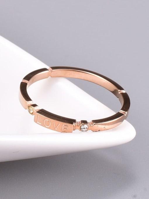 A TEEM Titanium Steel Letter Minimalist Band Ring 1