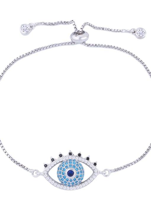 CC Brass Cubic Zirconia Evil Eye Minimalist Adjustable Bracelet 4