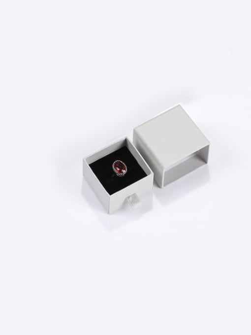 Gray Eco-Friendly Paper Pull Out Jewelry Box For Rings, Small Earrings