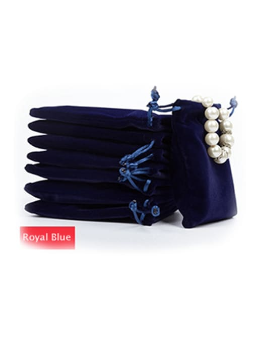 Royal Blue Flannel Beam Port Velvet Pouches Bag For Earrings,Rings,Necklaces,Bracelets And Brooches