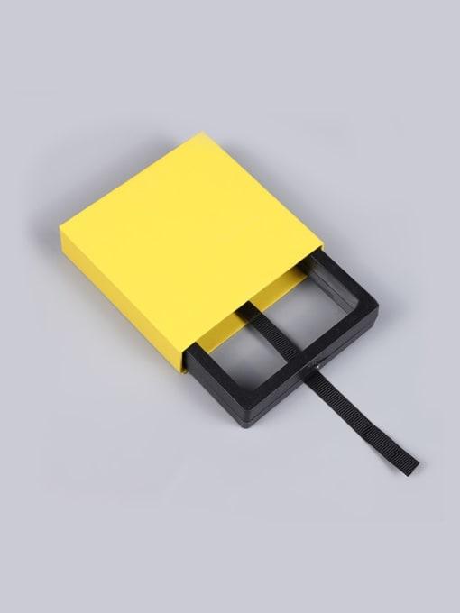 Yellow Dustproof Suspension Case Transparent Jewelry Box
