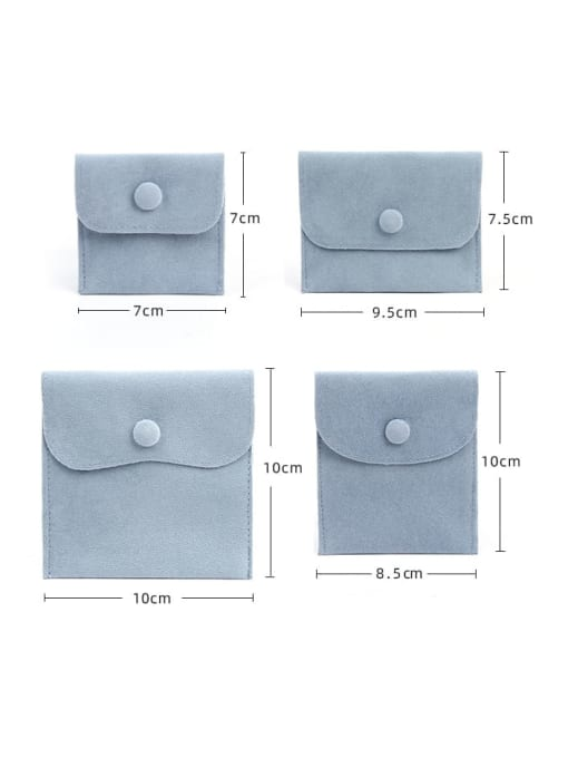 TM Flannel Buckle Velvet Bag For Earrings,Rings,Necklaces,Bracelets And Brooches 1