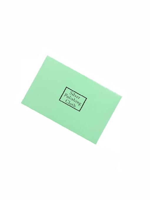 Green Gold and Silver Jewelry Cleaning Polishing Cloth