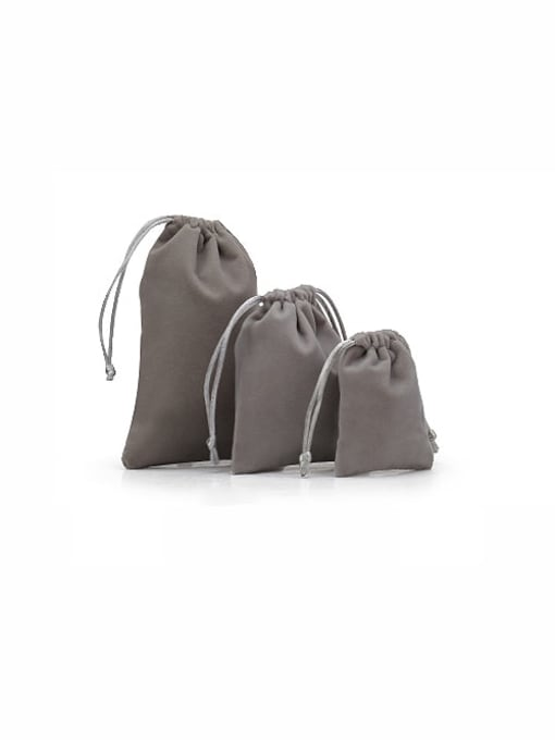 Gray Flannel Beam Port Velvet Pouches Bag For Earrings,Rings,Necklaces,Bracelets And Brooches