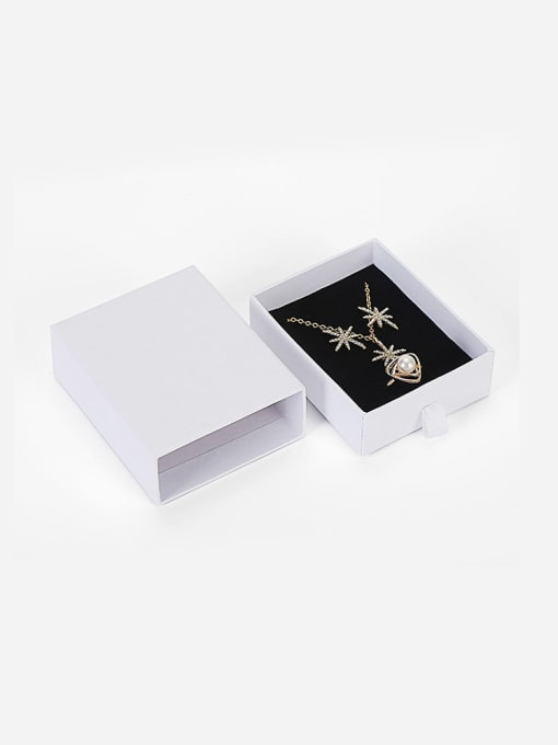 TM Eco-Friendly Paper Pull Out Jewelry Box For Necklaces,Earrings,Brooches 5
