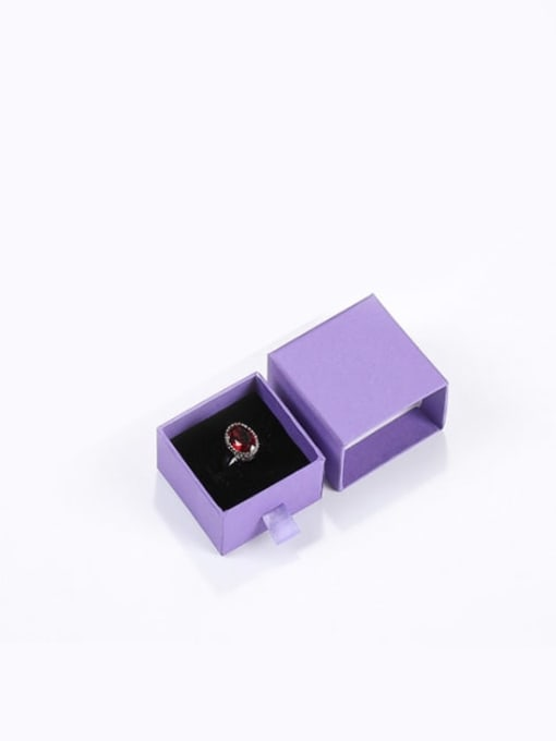 purple Eco-Friendly Paper Pull Out Jewelry Box For Rings, Small Earrings