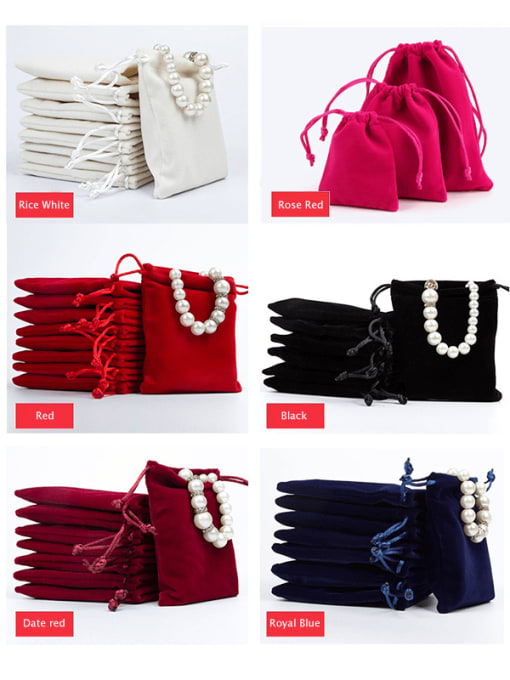 TM Flannel Beam Port Velvet Pouches Bag For Earrings,Rings,Necklaces,Bracelets And Brooches 1