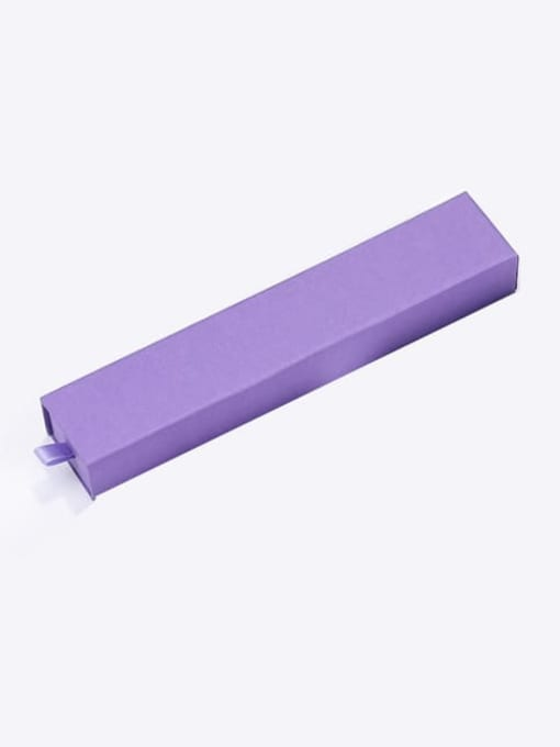Purple Eco-Friendly Paper Pull Out Jewelry Box For Bracelets
