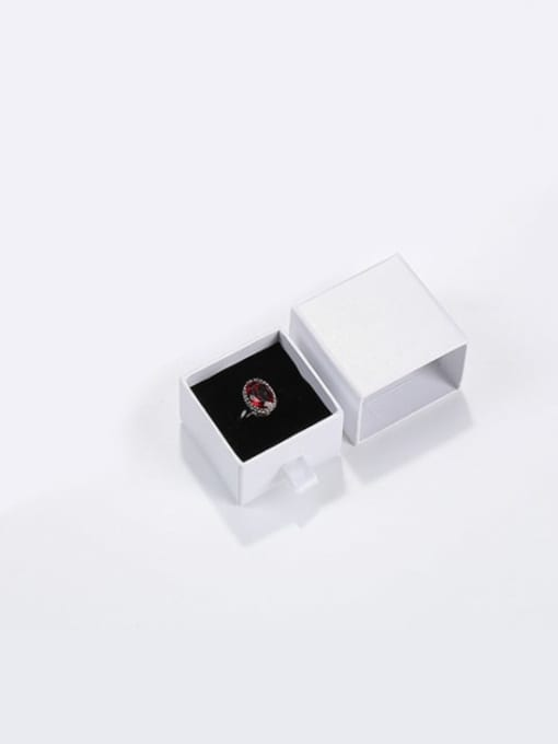 Pearl White Eco-Friendly Paper Pull Out Jewelry Box For Rings, Small Earrings