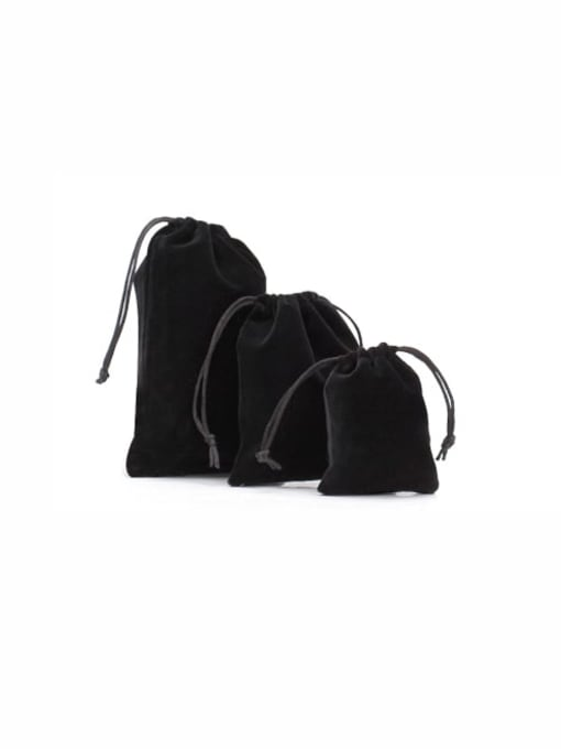 Black Flannel Beam Port Velvet Pouches Bag For Earrings,Rings,Necklaces,Bracelets And Brooches
