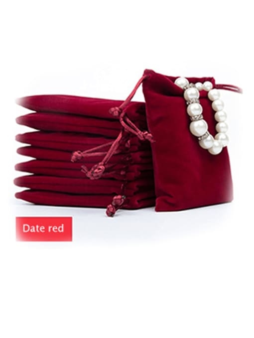 date red Flannel Beam Port Velvet Pouches Bag For Earrings,Rings,Necklaces,Bracelets And Brooches