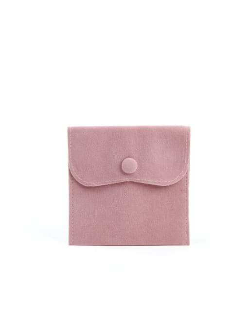 Pink Flannel Buckle Velvet Bag For Earrings,Rings,Necklaces,Bracelets And Brooches