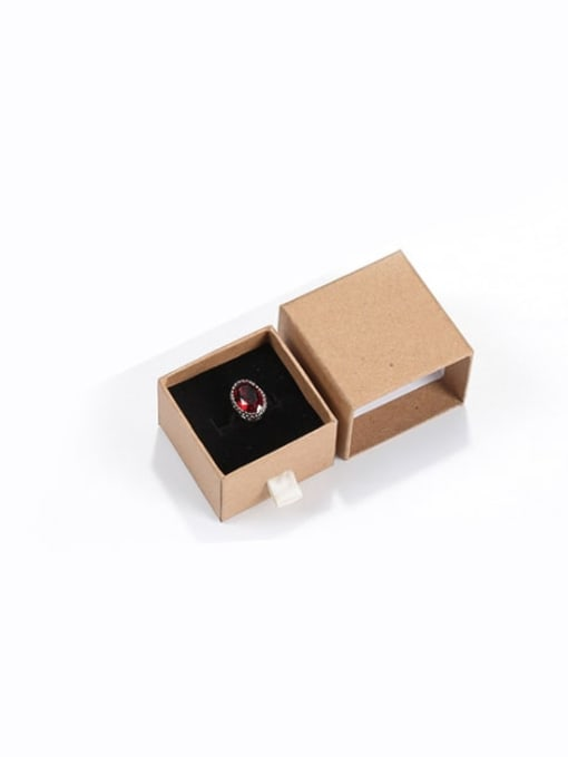 Cowhide Eco-Friendly Paper Pull Out Jewelry Box For Rings, Small Earrings