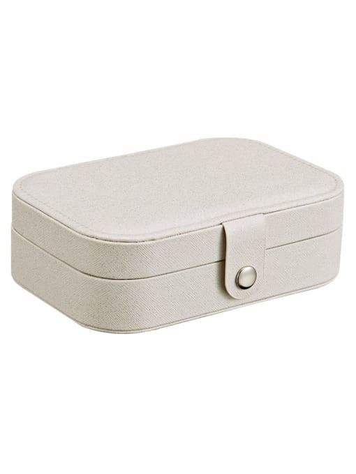 shine white 3 layers PU Leather Jewelry Storage Box