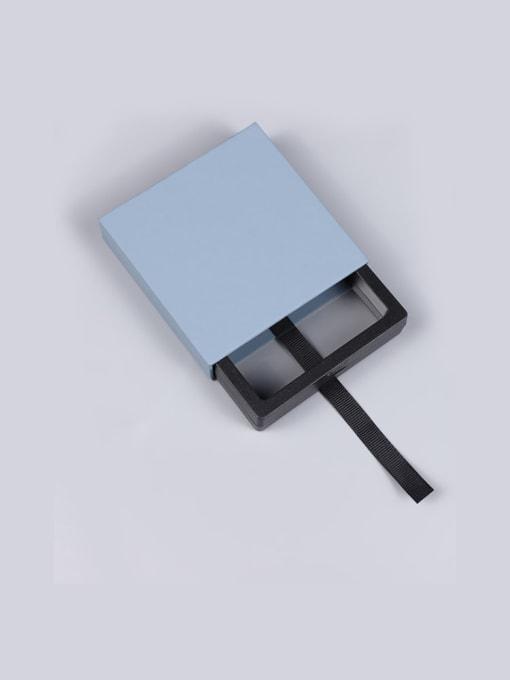 Dark Blue Dustproof Suspension Case Transparent Jewelry Box