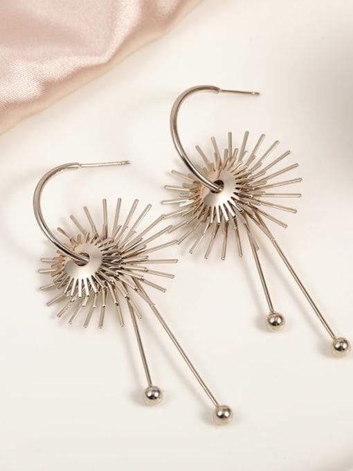 Lin Liang Brass Irregular Dainty Drop Earring