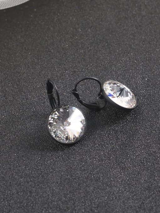 Lin Liang Brass Cubic Zirconia White Round Statement Drop Earring 1