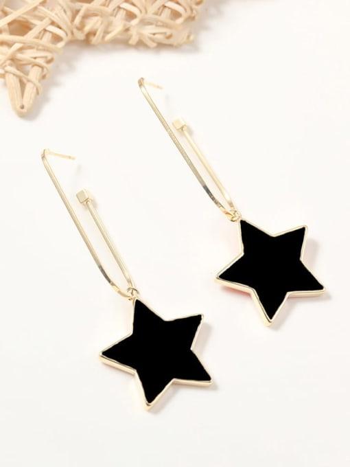 Lin Liang Brass Resin Acrylic Star Trend Drop Earring 0