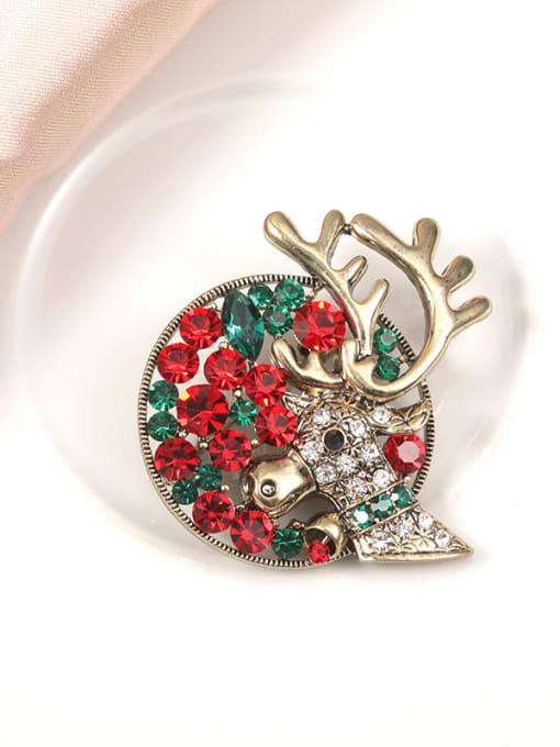 Lin Liang Alloy Rhinestone Multi Color Deer Minimalist Brooch
