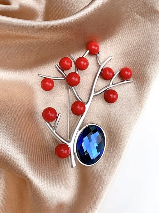 Lin Liang Alloy Freshwater Pearl White Irregular Classic Brooch 1