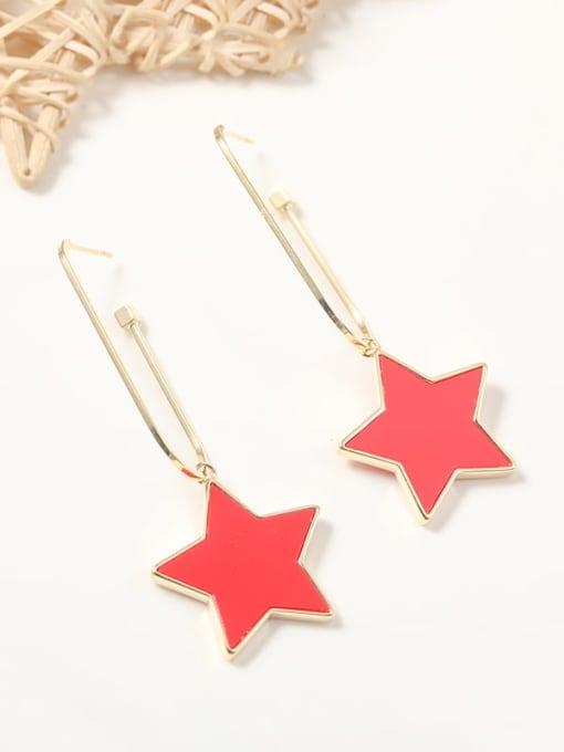 Lin Liang Brass Resin Acrylic Star Trend Drop Earring 1