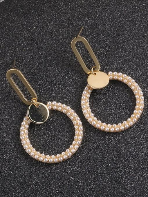 Lin Liang Brass Cubic Zirconia White Round Minimalist Single Earring 0
