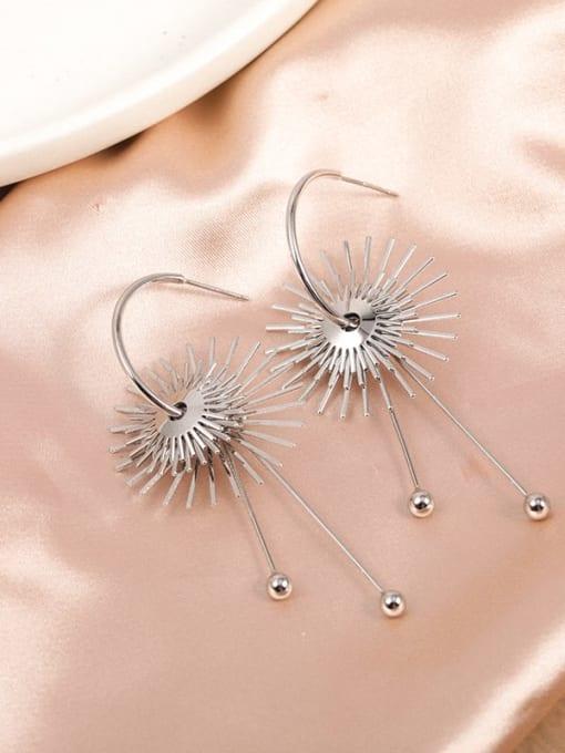 White Brass Irregular Dainty Drop Earring