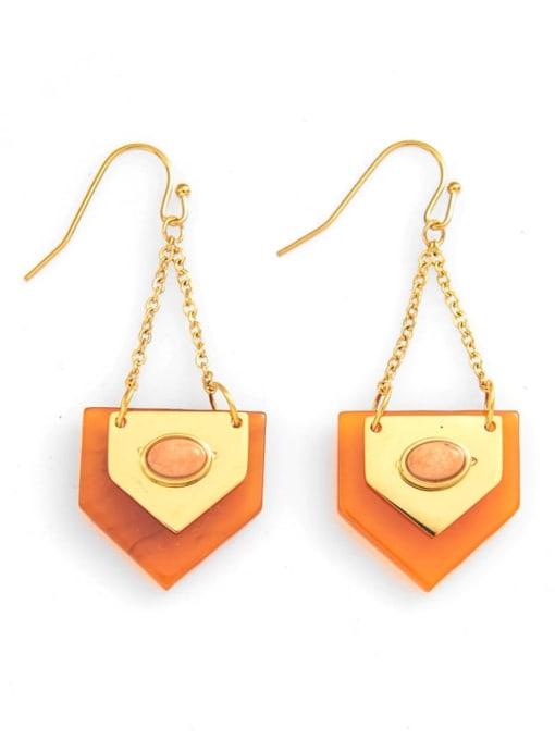 orange Titanium steelgeometric simple fashion earrings