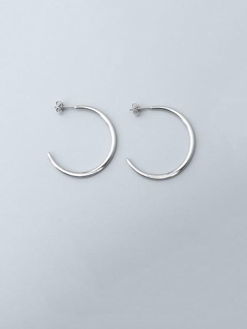 steel  (0.25MM) Titanium Steel C shape Minimalist Hoop Earring