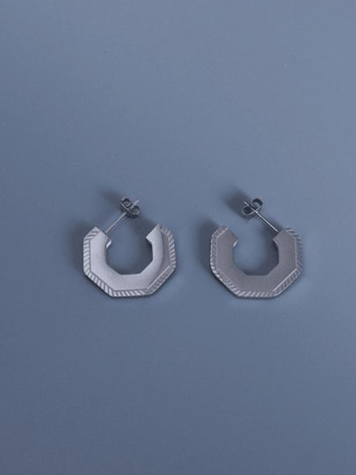 steel geometric Earrings Titanium Steel Geometric Vintage Stud Earring