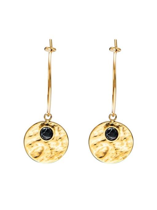 Black Fashion natural stone earrings