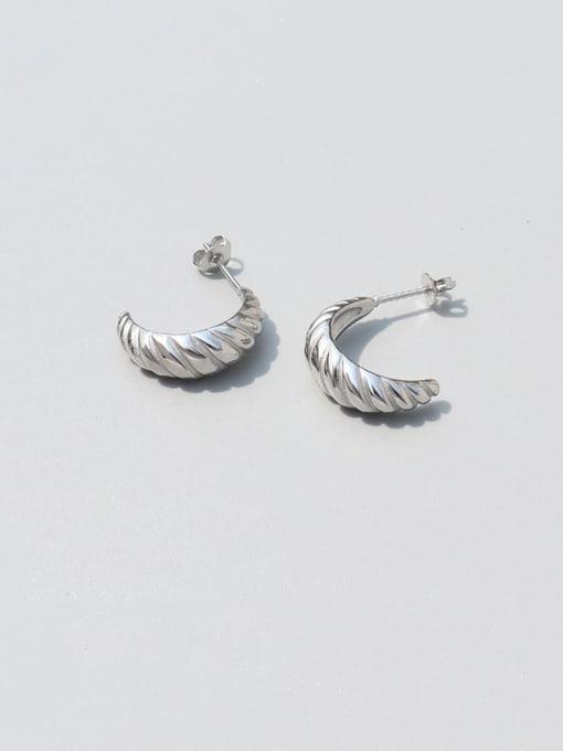 MAKA Titanium Steel Irregular Vintage Stud Earring 2