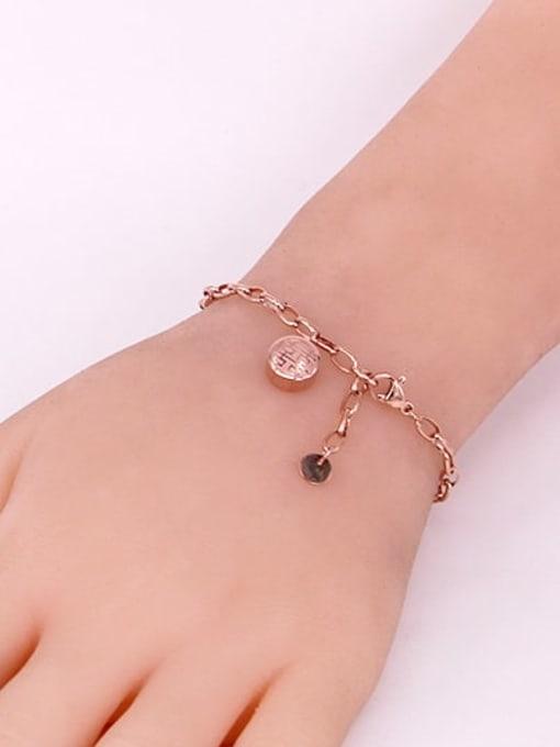 K.Love Titanium Steel Irregular Minimalist Link Bracelet 2