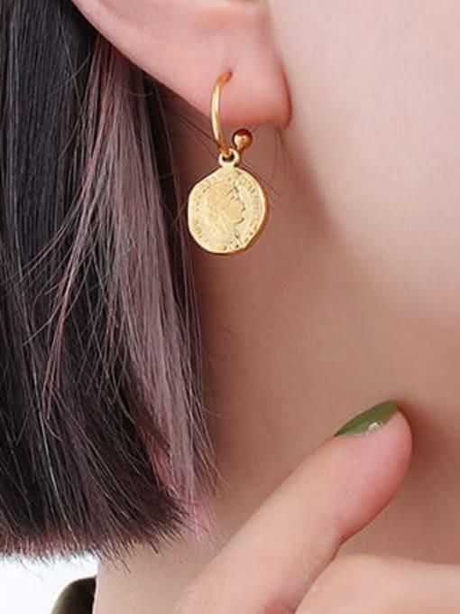 MAKA Titanium Steel Minimalist Geometric Earring and Necklace Set 3