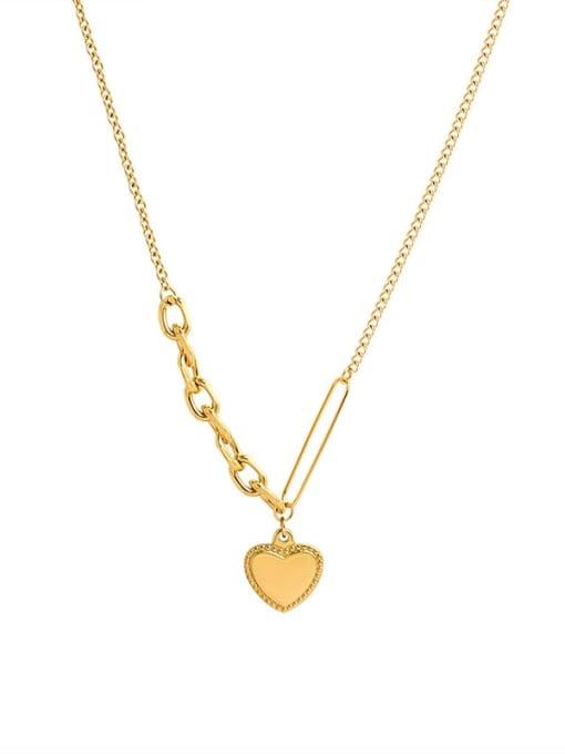 MAKA Titanium Steel Heart Vintage Necklace