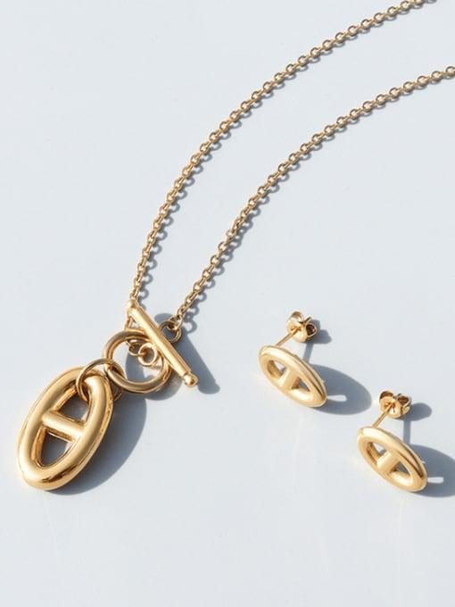 MAKA Titanium Steel Vintage Geometric  Pendant Necklace 2