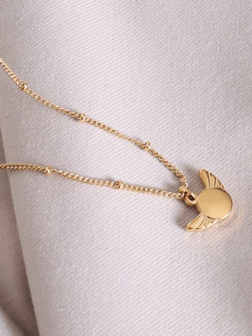 MAKA Titanium Steel Wing Minimalist Necklace 2