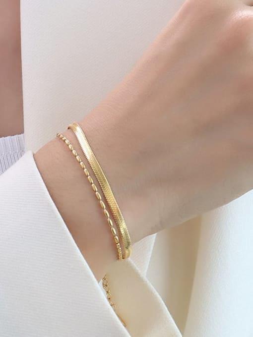 MAKA Titanium Steel Geometric Minimalist Strand Bracelet 2