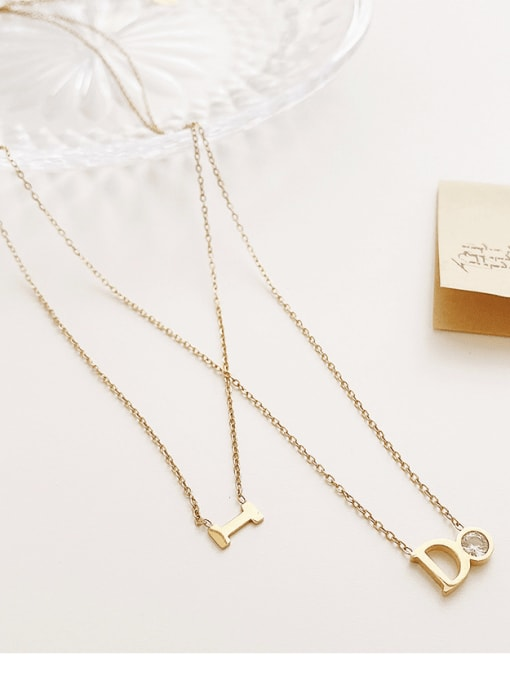 YAYACH Inlaid zircon geometric pendant ins wind multi-layered necklace 1