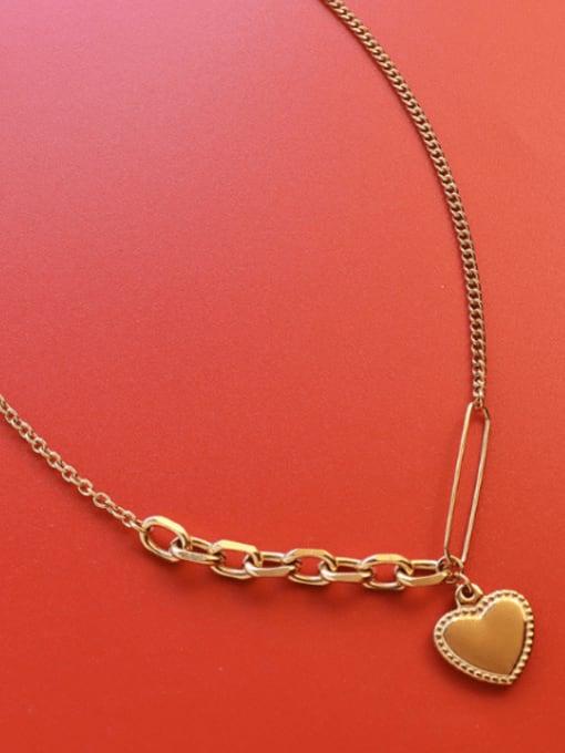 MAKA Titanium Steel Heart Vintage Necklace 2